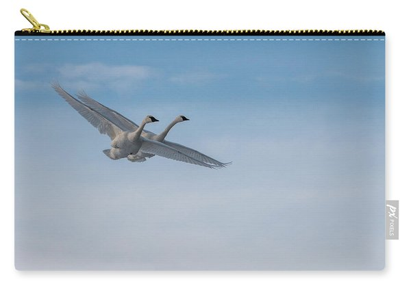 Trumpeter Swan Tandem Flight I Carry-all Pouch