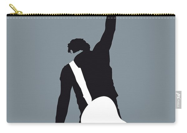 No017 My Bruce Springsteen Minimal Music Poster Carry-all Pouch