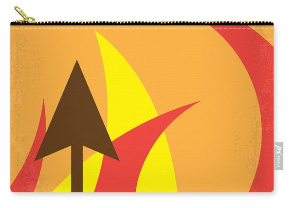 No175-2 My Catching Fire - The Hunger Games Minimal Movie Poster Carry-all Pouch