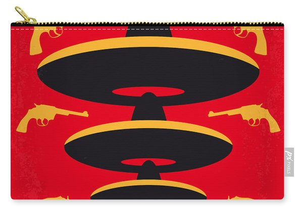 No285 My Three Amigos Minimal Movie Poster Carry-all Pouch