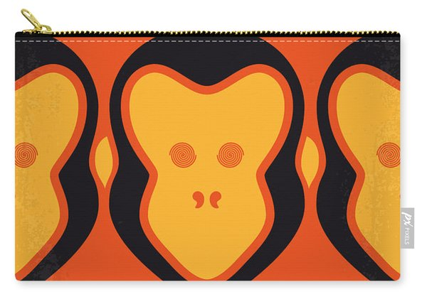No355 My 12 Monkeys Minimal Movie Poster Carry-all Pouch