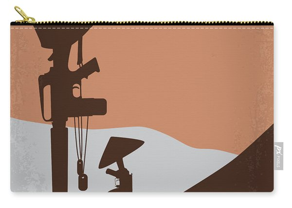 No428 My Hamburger Hill Minimal Movie Poster Carry-all Pouch