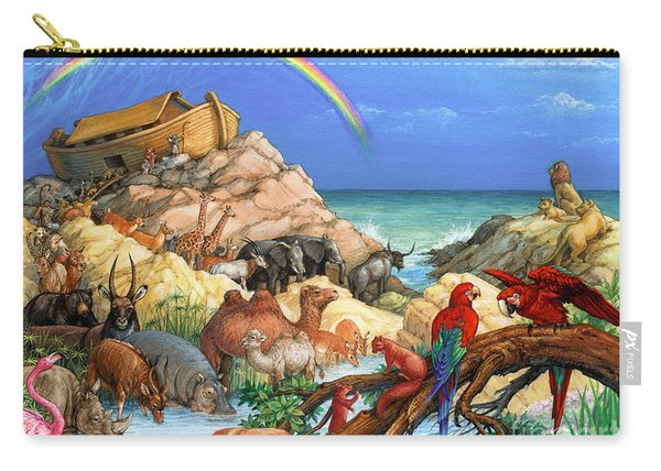 Noah And The Ark Carry-all Pouch