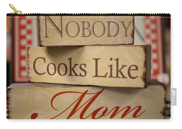 Nobody Cooks Like Mom - Square Carry-all Pouch