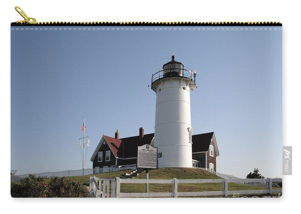 Nobska Lighthouse On Cape Cod At Woods Hole Massachusetts Carry-all Pouch