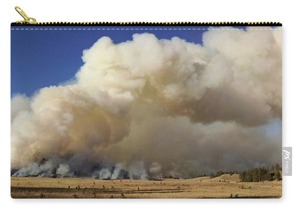 Carry-all Pouch featuring the photograph Norbeck Prescribed Fire Smoke Column by Bill Gabbert
