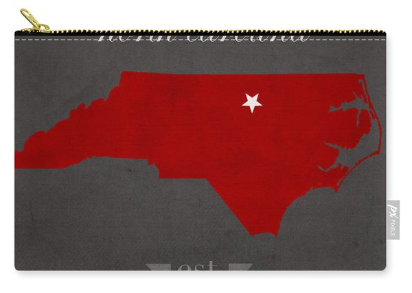 North Carolina State University Wolfpack Raleigh College Town State Map Poster Series No 077 Carry-all Pouch