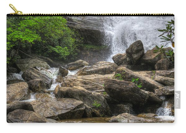 Carry-all Pouch featuring the photograph North Carolina Waterfall by Michael Colgate