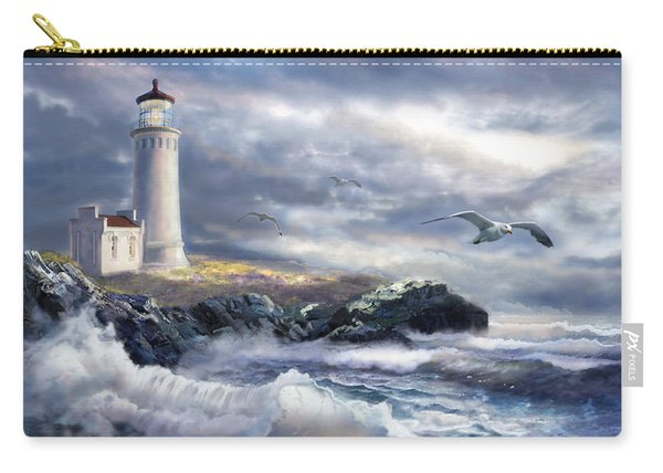 North Head Lighthouse At The Eve Of A Storm Carry-all Pouch