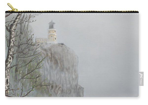 North Shore Lighthouse In The Fog Carry-all Pouch
