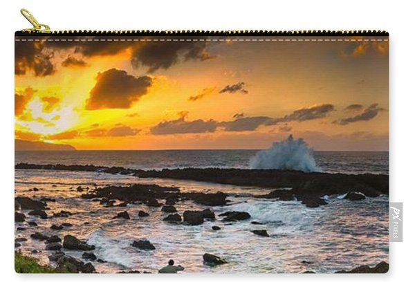North Shore Sunset Crashing Wave Carry-all Pouch