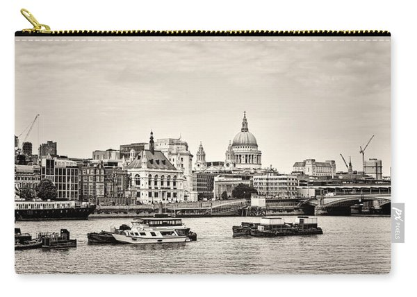 North Side Of The Thames Bw Carry-all Pouch