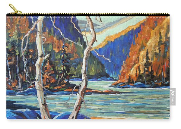 North West Lake By Prankearts Carry-all Pouch