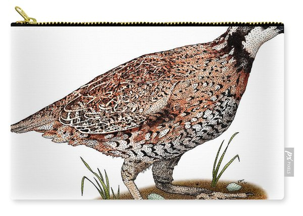 Northern Bobwhite Quail Carry-all Pouch