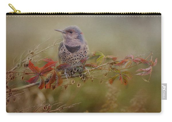 Northern Flicker In Fall Colors Carry-all Pouch