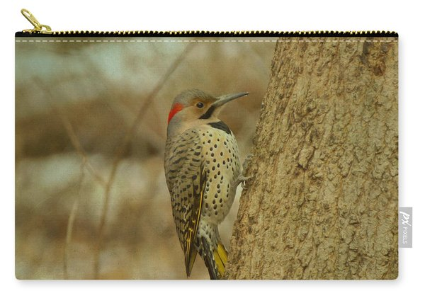 Northern Flicker On Tree Carry-all Pouch