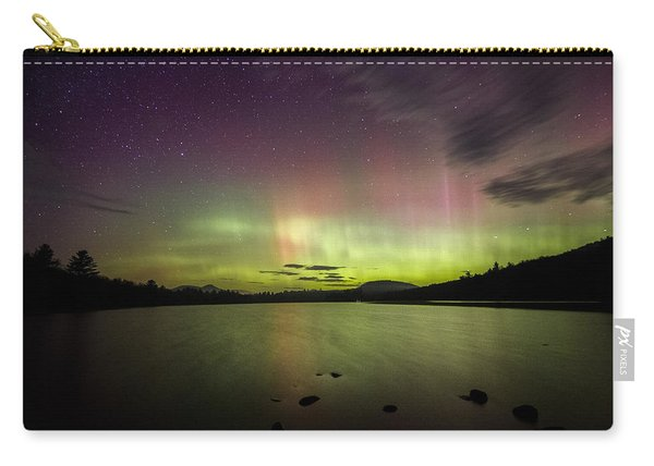 Northern Lights Over Ricker Pond Carry-all Pouch