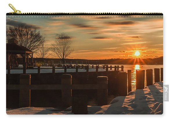 Northport New York Winter Sunset Carry-all Pouch