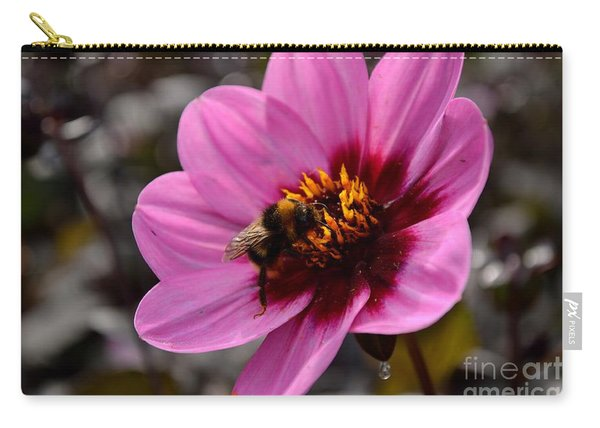Carry-all Pouch featuring the photograph Nosy Bumble Bee by Scott Lyons
