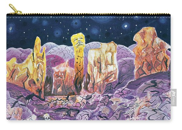 Not From Earth, 1973 Oil On Canvas Carry-all Pouch