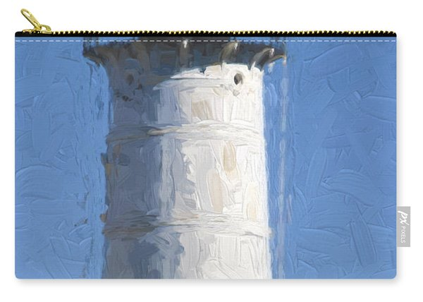 Nubble Lighthouse Maine Painterly Effect Carry-all Pouch