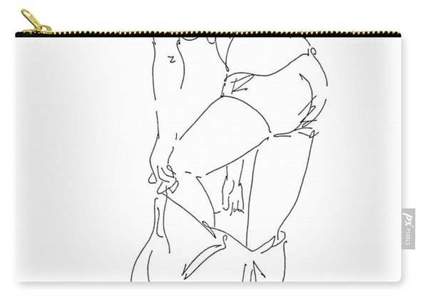 Nude Female Drawings 1 Carry-all Pouch