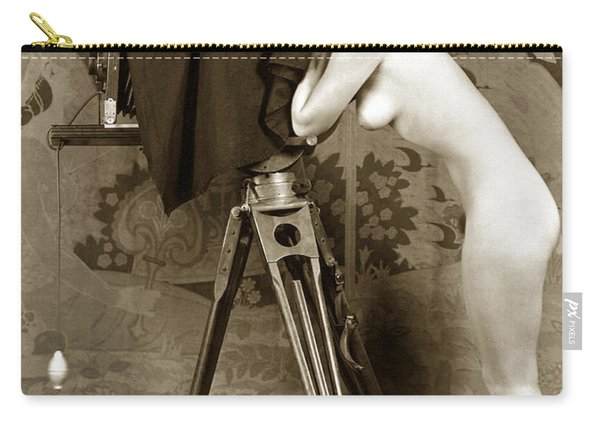 Nude In High Heel Shoes With Studio Camera Circa 1920 Carry-all Pouch