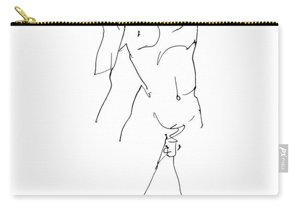 Nude-male-drawing-11 Carry-all Pouch