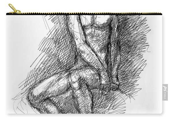 Nude Male Sketches 1 Carry-all Pouch