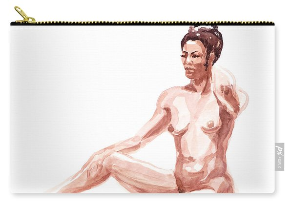 Nude Model Gesture X Carry-all Pouch