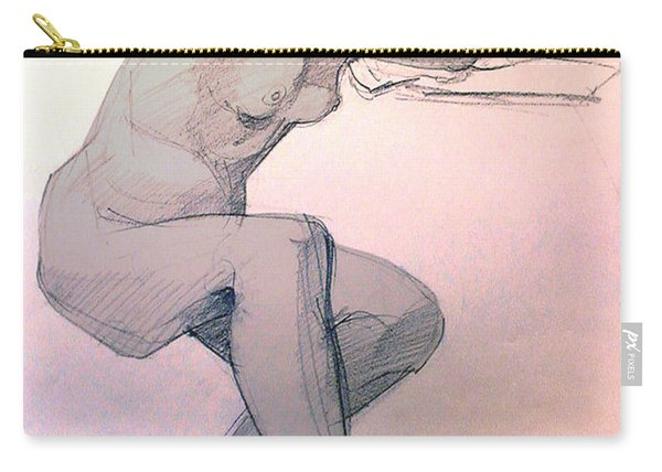 Nude Of A Dreamy Young Woman Carry-all Pouch