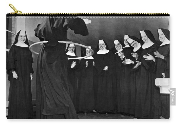 Nun Swivels Hula Hoop On Hips Carry-all Pouch