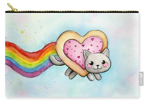 Nyan Cat Valentine Heart Carry-all Pouch