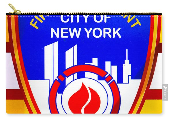 Nyc Fire Dept Logo Carry-all Pouch