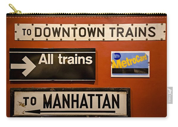 Nyc Subway Signs Carry-all Pouch