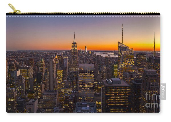 Nyc Top Of The Rock Sunset Carry-all Pouch