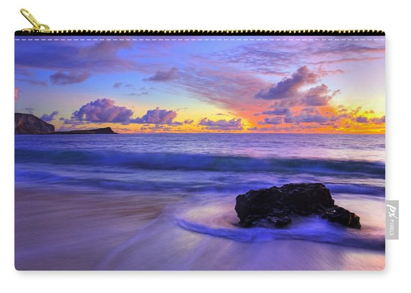 Carry-all Pouch featuring the photograph Oahu Sunrise by Dustin  LeFevre
