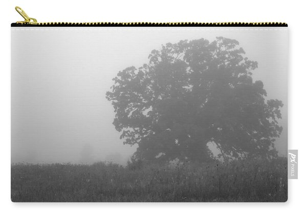 Carry-all Pouch featuring the photograph Oak In The Fog by Michael Colgate