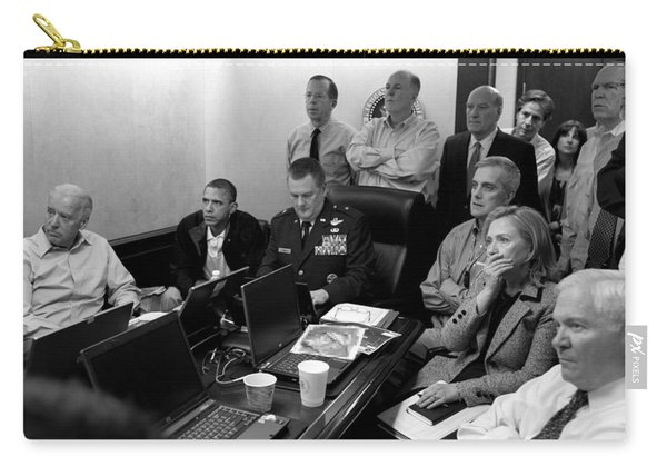 Obama In White House Situation Room Carry-all Pouch