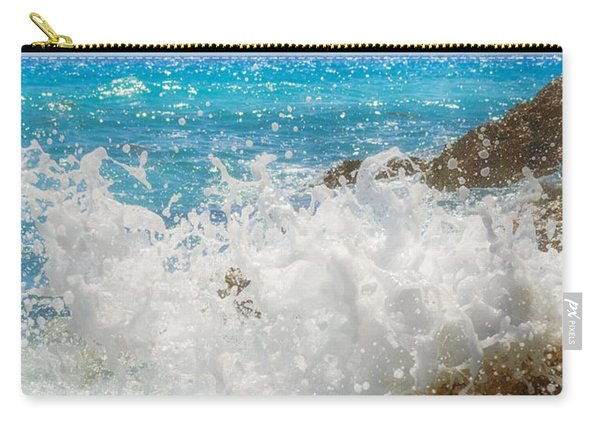 Carry-all Pouch featuring the photograph Ocean Spray by Garvin Hunter