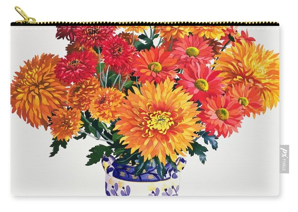 October Chrysanthemums Carry-all Pouch