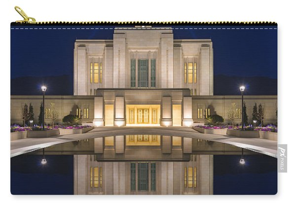 Carry-all Pouch featuring the photograph Ogden Temple Reflection by Dustin  LeFevre