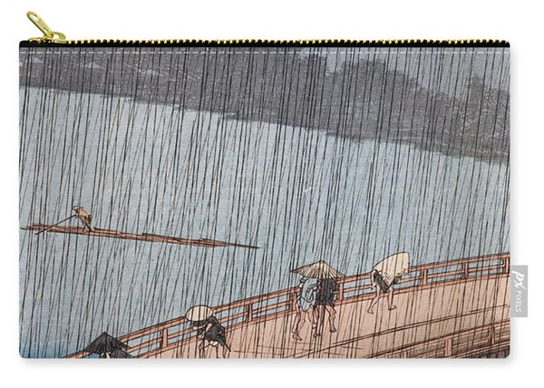 Ohashi Sudden Shower At Atake Carry-all Pouch