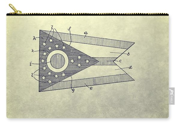 Ohio State Flag Design Carry-all Pouch