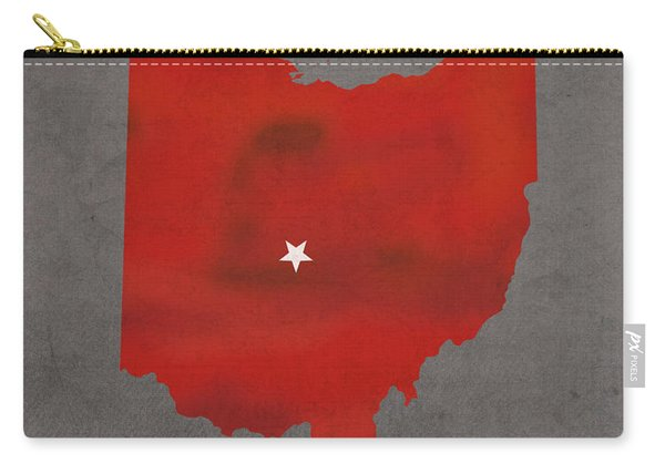 Ohio State University Buckeyes Columbus Ohio College Town State Map Poster Series No 005 Carry-all Pouch
