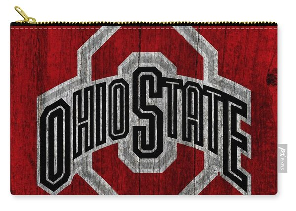 Ohio State University On Worn Wood Carry-all Pouch