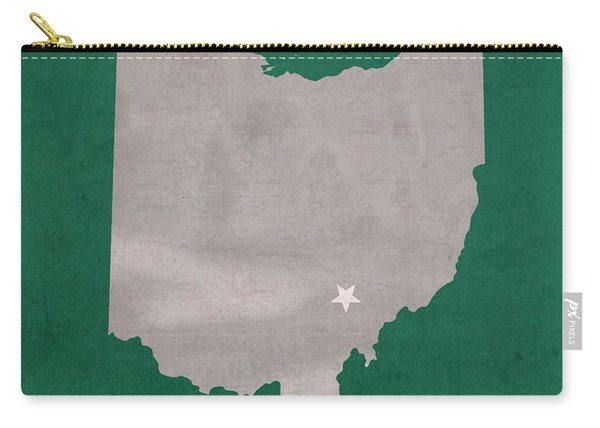 Ohio University Athens Bobcats College Town State Map Poster Series No 082 Carry-all Pouch