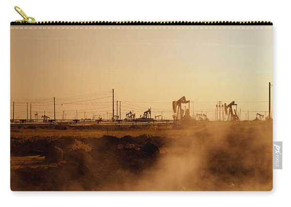 Oil Drills In A Field, Maricopa, Kern Carry-all Pouch