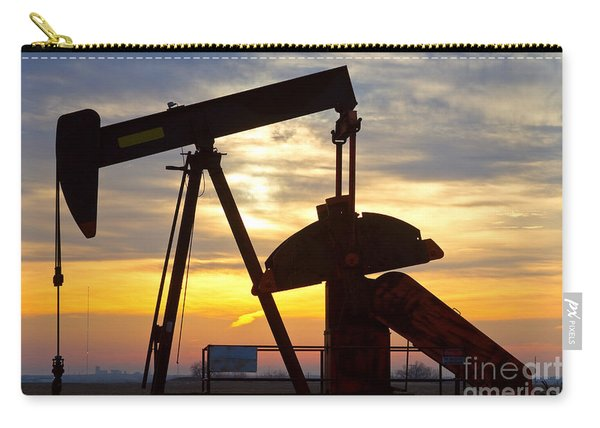 Oil Pump Sunrise Carry-all Pouch