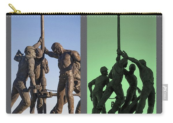 Oil Rig Workers Diptych Carry-all Pouch